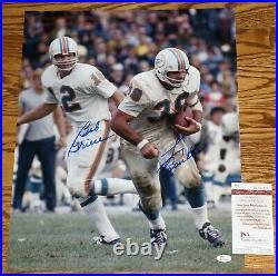 Bob Griese & Larry Csonka Signed 1972 Miami Dolphins 16x20 Photo + JSA COA W3557