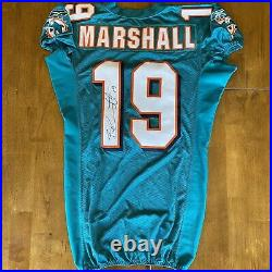 Brandon Marshall Signed Autographed Game / Team Issued Dolphins Jersey 2011