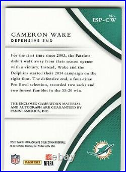 Cameron Wake 2014 Panini Immaculate Rare Auto Autograph 4 Color Patch 7/10