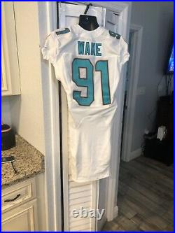 Cameron Wake Signed Miami Dolphins White Game Jersey (COA) 5xPro Bowl D. E