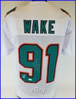 Cameron Wake Signed Miami Dolphins White Jersey (JSA COA) 5xPro Bowl D. E