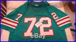 Custom 1972 Miami Dolphins Undefeated 17 + 1 Player Autographed Jersey Leaf Coa
