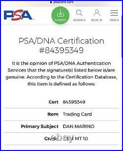 DAN MARINO Dolphins Signed 2020 Panini KABOOM Football Card PSA Auto 10 GEM MINT