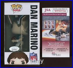 DAN MARINO Miami Dolphins Signed FUNKO POP #91 + JSA witness COA WIT037334