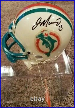 DAN MARINO Signed Dolphins Mini Helmet Upper Deck Authenticated with Case & COA