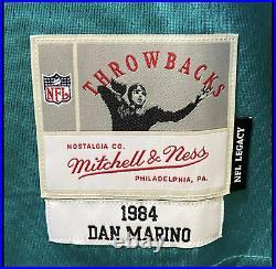 Dan Marino #13 Signed Dolphins Jersey Mitchell & Ness Size L Fanatics COA HOF