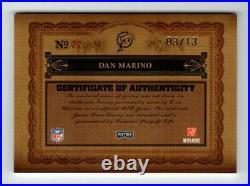 Dan Marino 2006 Playoff National Treasures Prime Jersey Auto 3/13