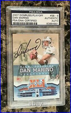 Dan Marino 2007 Donruss Playoff #SB-9 Miami Dolphins AUTO PSA