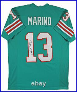 Dan Marino Authentic Signed Teal Pro Style Jersey Autographed JSA Witness