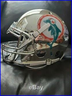 Dan Marino Autographed Dolphins Full Size Authentic CHROME Helmet JSA COA
