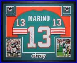 Dan Marino Autographed & Framed Teal Dolphins Jersey Auto Fanatcis COA