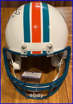 Dan Marino Autographed Full Size Throwback Dolphins Rep Helmet- Beckett COA