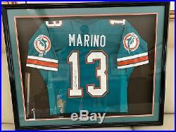 Dan Marino Autographed Jersey Professionally framed