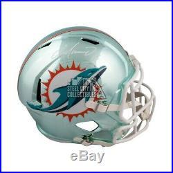 Dan Marino Autographed Miami Dolphins Chrome Full-Size Football Helmet BAS COA