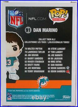 Dan Marino Autographed Miami Dolphins Funko Pop Figurine- Beckett W Orange