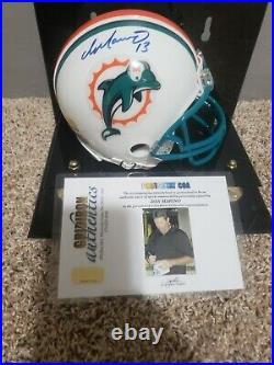 Dan Marino Autographed Mini Helmet With COA