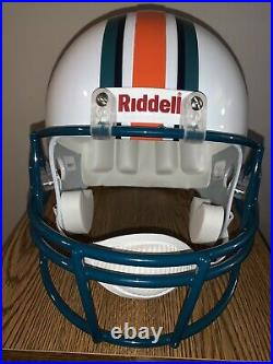 Dan Marino Autographed Riddell Replica Football Helmet COA Dolphins