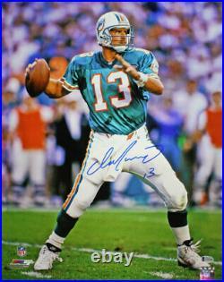 Dan Marino Autographed/Signed Miami Dolphins 16x20 Photo BAS 29153 PF