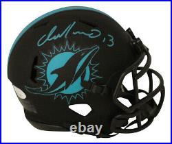 Dan Marino Autographed/Signed Miami Dolphins Eclipse Mini Helmet JSA 29931