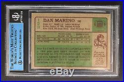 Dan Marino HOF Miami Dolphins Autograph 1984 Topps #123 Signed Rookie Card JSA