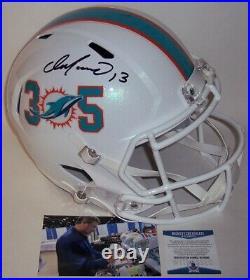 Dan Marino Hand Signed Riddell Dolphins 305 Speed Full Size Deluxe Helmet Bas
