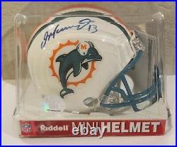 Dan Marino Hand-signed, Autographed Mini Helmet, Mounted Memories Coa, Nice