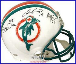 Dan Marino, Mark Clayton & Duper Signed Miami Dolphins Full Size Helmet Tristar