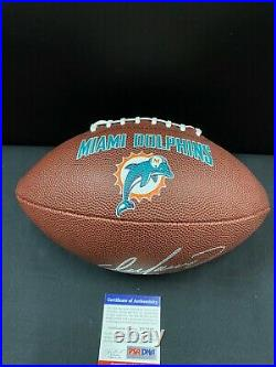 Dan Marino Miami Dolphins Signed Brown Logo Full Size Football Psa/dna Coa Hof