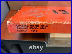 Dan Marino Original Orange Bowl Autographed Metal Seat #13
