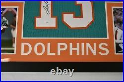 Dan Marino Signed 35x43 Custom Framed Jersey Miami Dolphins JSA COA Auto