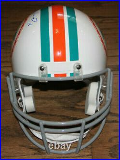 Dan Marino Signed Auto Full Size Miami Dolphins Helmet Bas Witnessed #k15994