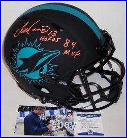 Dan Marino Signed Dolphins Eclipse Speed Full Size Authentic Helmet Hofmvp Bas