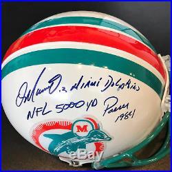 Dan Marino Signed Heavily Inscribed Authentic Miami Dolphins Helmet PSA DNA COA