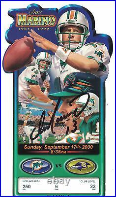 Dan Marino Signed Miami Dolphins Jersey Retirement Ticket 9/17/2000 JSA 24775