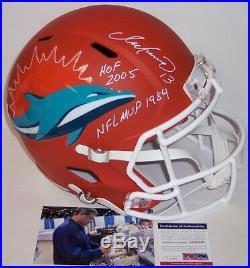 Dan Marino Signed Riddell Dolphins Amp Speed Full Size Deluxe Helmet Hof Mvp Psa