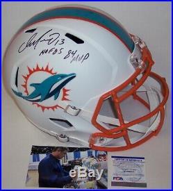 Dan Marino Signed Riddell Dolphins Speed Full Size Flat Deluxe Helmet Hofmvp Psa