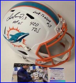 Dan Marino Signed Riddell Dolphins Speed Full Size Flat White Deluxe Helmet Psa