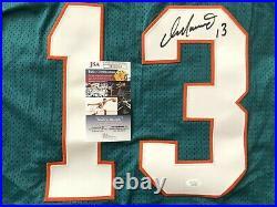 Dan Marino signed auto Miami Dolphins authentic Starter aqua stitched jersey JSA