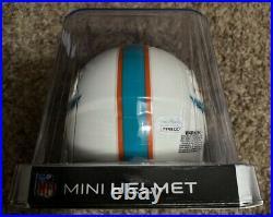 DeVante Parker Autographed Miami Dolphins Speed Mini Helmet & Custom Jersey JSA