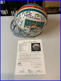 Dolphins 1972 Team 46 Autograph Signed Full Size Helmet JSA Full Letter