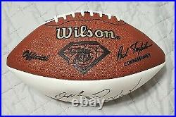 Dolphins DAN MARINO DON SHULA signed autographed Wilson NFL Football JSA COA