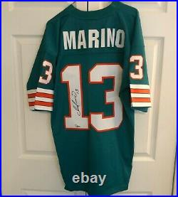 Dolphins Dan Marino #13 Signed Jersey Mitchell & Ness Size L Fanatics COA HOF