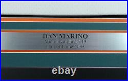Dolphins Dan Marino Autographed Framed Authentic M&n White Jersey Beckett 177852