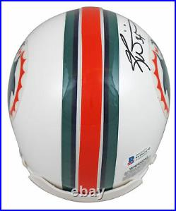 Dolphins Ricky Williams SWE Signed 97-12 Throwback Rep Mini Helmet BAS Witness