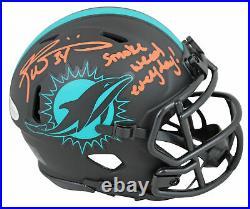 Dolphins Ricky Williams SWE Signed Eclipse Speed Mini Helmet BAS Witnessed