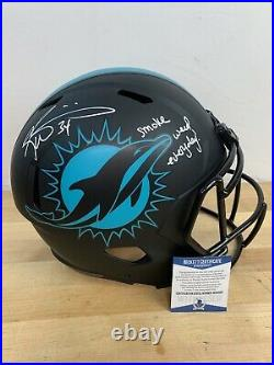 Dolphins Ricky Williams Signed Eclipse Full Size Speed Rep Helmet Beckett