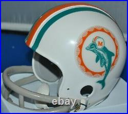 Don Shula Autographed 1972 Two Bar Tb Mini Helmet Miami Dolphins Hof 1997 Jsa