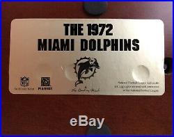 Don Shula Miami Dolphins Danbury Mint 1972 Team Figure Statue & Signed Dan