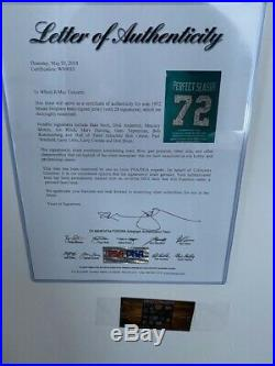 Framed 1972 Miami Dolphins UNDEFEATED Autographed Jersey COA 28 Signatures
