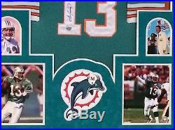 Framed Dan Marino Autographed Signed Inscribe Miami Dolphins Jersey Fanatics Coa